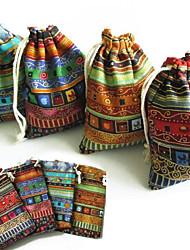 Bolsas de Ofertas ( Dourado/Verde/Vermelho/Azul , Juta não-personalizado