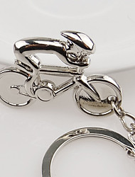 Zinc Alloy Fashion Power Cycling Key Chain Bicycle Ring Keyring