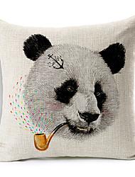 fumar desenhos animados panda algodão / linho fronha decorativo