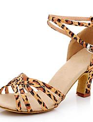 Женская обувь - Атлас/синтетический - Номера Настраиваемый ( Черный/Синий/Красный/Золотой/Разноцветный/Леопард ) -Танец