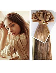 """300g / pc cabelo humano ponta plana brasileira extensão cabelos lisos cabelos 1g / strand, 100 g / pc 18 """"-28"""" estão em estoque"""