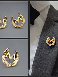 Word M Brooch (1Pc)