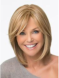 Боб волосы сокращения синтетические парики короткие прямые светлые парики для женщин полных париков с челкой