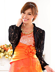 Wedding Wraps Lace/Polyester Casual/Party Elegant Boleros Black/White Bolero Shrug