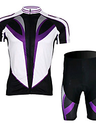 Purple SPEED Short Sleeved Jersey Suit, Moisture Cycling Wear, Motor Function Material