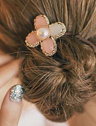 Mujer Todas las Temporadas Vintage Bonito Fiesta Trabajo Casual Aleación Piedra Preciosa y Cristal Perla de Imitación Goma para el Pelo