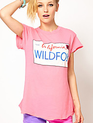 De las mujeres Camiseta Algodón - Manga Corta