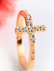 Hopy High Quality Fashional Rhinstone Hot Selling Cross Ring