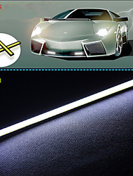 17cm 600-700lm éclairage diurne lumière blanche de couleur torchis drl lumière imperméable à l'eau de 10pcs (12v)