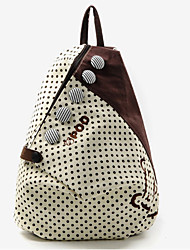 Handcee® Fashion Woman Canvas Wave Point Backpack