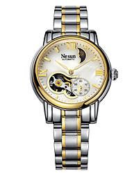 les femmes suisses nesun brevetés montres de bande en acier creux étanche lumineuse