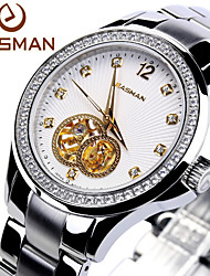 Easman Brand Design Men Watches 65 Zircon Stainless Steel Round Shape Automatic Mechanical Self-winding Wristwatch