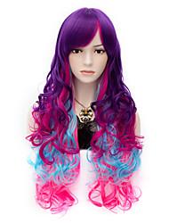 Fashion My Little  Rainbow Long Hair Wigs Vogue Curly Cosplay Party Wig
