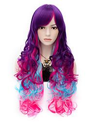 façonner mon petit arc cheveux longs perruques vogue perruque de parti cosplay bouclés