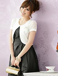 Hochzeitsverpackungen Kurzarm Chiffon / Polyester elegant Boleros schwarz / weiß / rosa Bolero