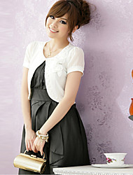 casamento envolve manga curta chiffon de poliéster / boleros elegante preto branco rosa shrug bolero / /