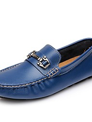 Men's Shoes Outdoor/Athletic/Casual Leather Loafers Black/Blue/White