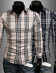 Men's Fashion Plaid Shirt