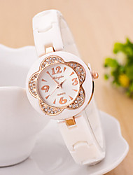 Women's Watches Acrylic Diamond Quartz Watch Strap Ladies Flowers