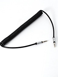 5ft 3.5mm Earphone Jack Male to Male Audio Splitter Connecter TPE Retractable Cable for MP3 MP4 Cell Phones Car