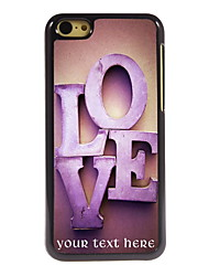 Personalized Gift The Love Design Aluminum Hard Case for iPhone 5C