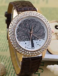 Women's round diamond alloy tree Dial Quartz Fashion   dress wrist  Watch Cool Watches Unique Watches