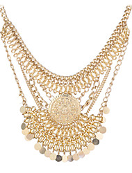 Gold And Silver Two Colors India Wind Restoring Ancient Ways Exaggerated Big Jewelry Necklace Selling in 2015