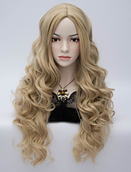 Hot sale Charming Blonde Long Body Wavy  Wigs Hair Beautiful Synthetic Hair Wigs