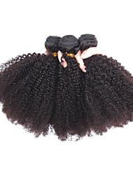 3 PC / Los 100% peruanische Afro verworrenes lockiges Haar menschliches reines Haar natürliches schwarzes Haar spinnt, / Erweiterungen