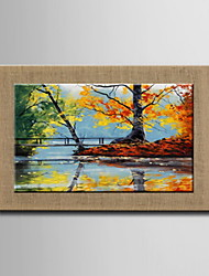 Oil Paintings One Panel Modern Abstract Landscape Hand-painted Natural Linen Ready to Hang