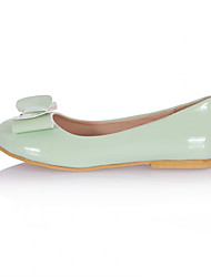 Women's Shoes Faux Leather Flat Heel Mary Flats Office & Career/Casual Green/Pink/White