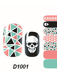 Fashion Skull Nail Art Glitter Sticker