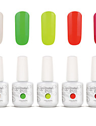 Gelpolish Nail Art Soak Off UV Nail Gel Polish Color Gel Manicure Kit 5 Colors Set S123
