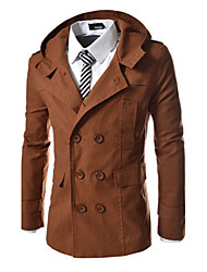 Young Men's Casual Round Long Sleeve Coats & Jackets