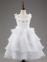 Flower Girl Dress - Longueur cheville Princesse - Col bateau ( Satin/Tulle )