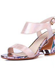Women's Shoes Chunky Heel Slingback open-toed / Open Toe Sandals Office & Career / Dress / Casual Blue / Pink