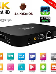 RSH Android 4.4 Duad Core Smart Tv Box Amlogic S812 1GB/8GB Free Porn Video Loaded Google Internet 4K Ott Tv Box