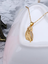 Alloy Jewelry Simple Generous Small Bird Gift Box Chain Pendant Necklace