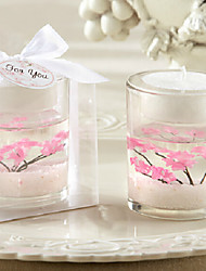 Romantic Pink Cherry Jelly Candle Cup Holder