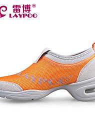 Non Customizable Women's Dance Shoes Dance Sneakers/Modern Fabric Chunky Heel Black/Yellow/Red/Leopard
