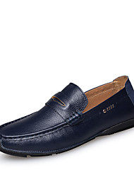 Men's Shoes Casual Leather Loafers Black/Blue/Brown