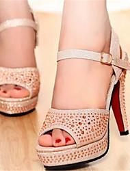 Women's Shoes Stiletto Heel Open Toe Sandals Dress Black/Silver/Gold