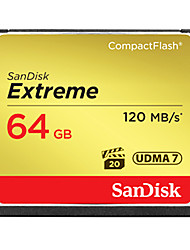 SanDisk 64GB CompactFlashMax Read Speed120 (MB/S)Max Write Speed120 (MB/S)