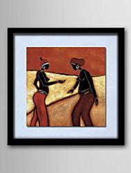 Картины маслом одна панель современный абстрактный почта люди ручная роспись холст готовы повесить