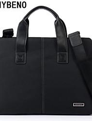 hombres benybeno bolsos de tela oxford bussiness negro bolso de mano maletín