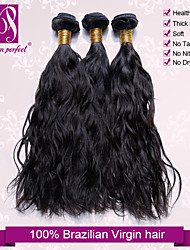 "3pcs/Lot 12""-30"" Brazilian Virgin Hair Natural Black Natural Wave Human Hair Extensions Hair Weaves Bundles Thick & Soft"