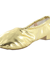 Women's Dance Shoes Leatherette Leatherette Belly / Ballet / Yoga / Gymnastics Heels / Split Sole Chunky Heel Indoor