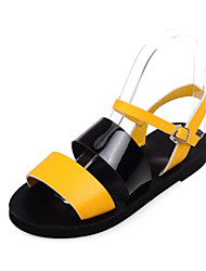 Women's Shoes Patent Leather Flat Heel Slingback Sandals Dress/Casual Blue/Yellow/White