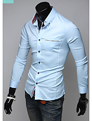 Hot Sell Summer Style 2015 Brand Long-Sleeve Shirt Men Clothes Camisas Hombre