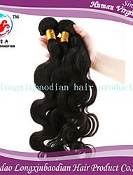 3 fasci di grado 6a moda stile di prezzi di fabbrica di 100% di Remy dell'onda del corpo non trattata peruviana tessitura dei capelli
